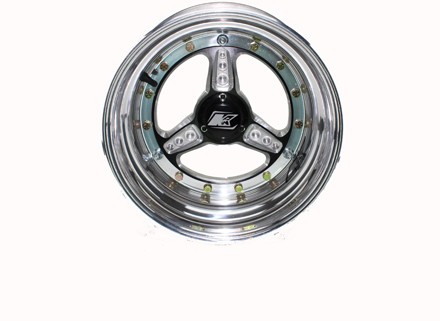 Midget Polished front nbl with hub