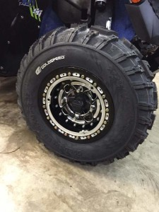"12"" 4x4 Black Wheels"