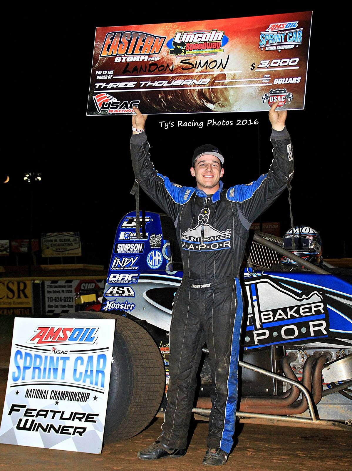 """Simon Scores In Lincoln Usac Sprint """"Special Event"""""""